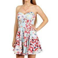 Mint Red Floral Sundress