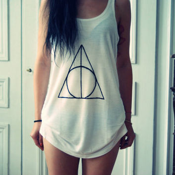 Deathly Hallows Tee by dresslikeaunicorn on Etsy