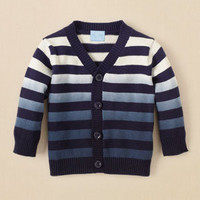 newborn - boys - dip dyed striped cardigan  | Children's Clothing | Kids Clothes | The Children's Place