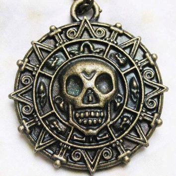 Cursed Pirate Doubloon Necklace  Pirates of the by qizhouhuang