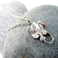 Mens Necklace Sting Ray Necklace Silver Mens by pearlatplay