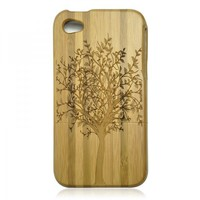 Eco-friendly Bamboo iPhone 4 / 4S Case - Dark Tree