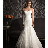 2013 Allure Bridal - White Lace Mermaid Wedding Dress - Unique Vintage - Prom dresses, retro dresses, retro swimsuits.