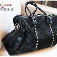 retro lace big fashion shoulder bag