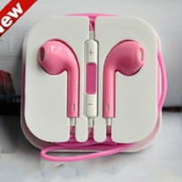 iphone 4/4s/5/ipad pink earphone Music headphones