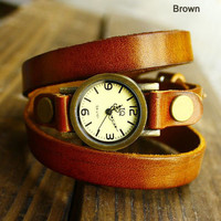 Retro Wrap Handmade Leather Watch