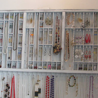 Jewelry organizer with stud slots
