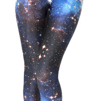 Classic Galaxy Leggings Pants Blue