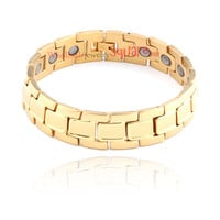 WJS Wholesale Glittering bunker Ring Link Bracelet | SKU : WJS384112 - Wholesale Price $8.16