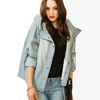 Life In Progress™ Drawstring Denim Jacket