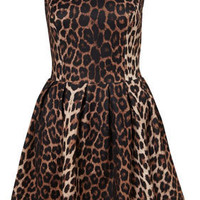 Animal Skater Dress - Dresses  - Clothing  - Topshop