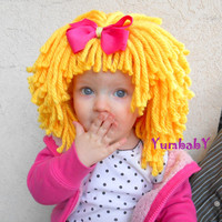 Goldie Locks Wig Halloween Costume Baby Hat  Baby Costume Baby Hats Toddler Costume Baby Girl Princess Costume Yellow Hair Wig