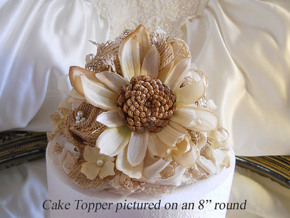 Rustic Vintage Style Sunflower Wedding From PapernLace On Etsy