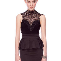 De Plume Dress in Black :: tobi