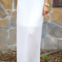 Pleating Guilty Maxi Skirt: White | Hope&#x27;s