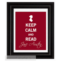 Keep Calm Jane Austen Vintage Inspired by JaneAndCompanyDesign