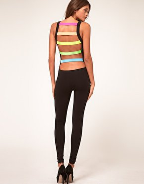 Unitard with Rave Slash Back Detail at ASOS
