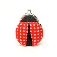 Magical ladybug mini coin purse by misala on Etsy
