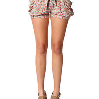 Papaya Clothing Online :: TWO POCKETS FLORAL SHORTS