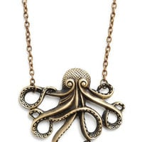 My Pet Octopus Necklace | Mod Retro Vintage Necklaces | ModCloth.com