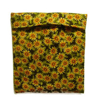 Microwave Potato Bag - Sunflowers/ Yellow and Green/ Housewarming Gift Idea