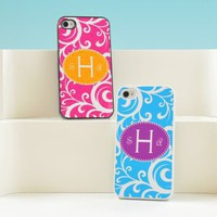 Scrolling Vine Personalized iPhone Cases - 4 Color Options