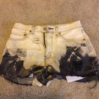 ombre high destroyed high waisted shorts