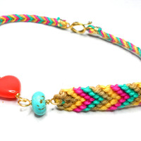 Bohemian Braided Knotted Friendship bracelets glass by zurdokero