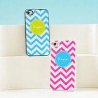 Chevron Personalized iPhone Cases - 4 Color Options