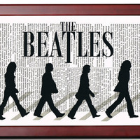 THE BEATLES Abbey Road Art Print Illustration by TreasuresByUs