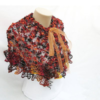 So Pretty  CapeletAutumn Colors by accessoriesbynez on Etsy