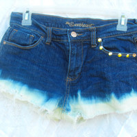 OOAK Custom dipped tumblr hipster shorts