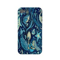 Fun Sealife Mermaid King Frog Starfish Case-mate Iphone 4 Case