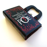 Book Purse Handbag Edgar Allan Poe Extra by spoonfulofchocolate