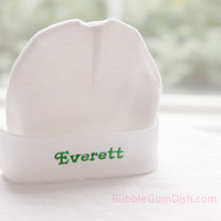 Newborn Cap Baby Hat Custom Embroidery Personalized Name for Infants