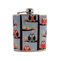 Hooties Flask by thehairofthedog on Etsy