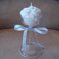 Sparkling Wedding Cupcake Candle by JaxxCandles on Etsy