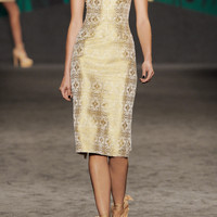 Vera Wang | Embellished brocade sheath dress | NET-A-PORTER.COM
