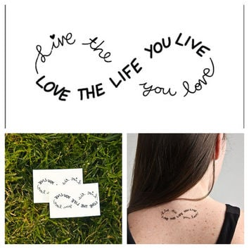 Infinity - temporary tattoo (Set of 2)