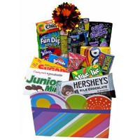 Great Gifts Baskets Retro Cool: Sweet Nostalgic Candy, Chocolate in Rainbow Stripes Gift Box: Amazon.com: Grocery & Gourmet Food
