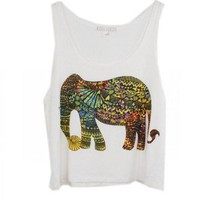 Love only elephant summer tank top