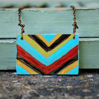 Tribal Chevron Necklace by JageInACage on Etsy