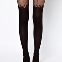 ASOS Suspender Paris Skyline Tights at asos.com