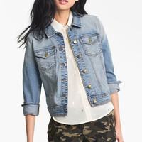 Rubbish® Vintage Denim Jacket (Juniors) | Nordstrom