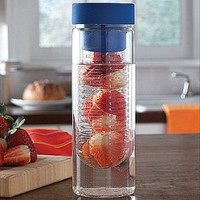 Spill-proof 16 Oz Glass Flavor Diffuser Drink Bottle With Fizz Saver Cap