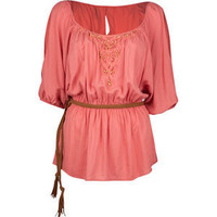 FULL TILT Belted Womens Peasant Top 187803313 | clothing | Tillys.com