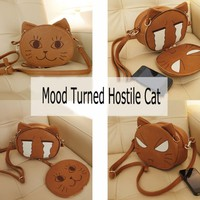 Lovely Sweet Mood Turned Hostile Cat Shoulder Diagonal Bag