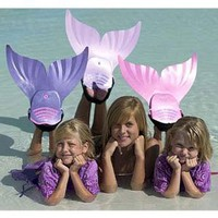 Amazon.com: Mermaid Swimming Pool Swim Fin - Pink: Sports & Outdoors