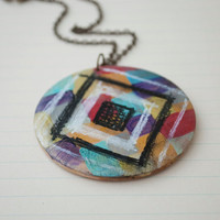 Art Piece Necklace by JageInACage on Etsy