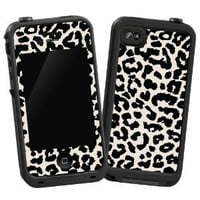 "Black and White Leopard ""Protective Decal Skin"" for LifeProof 4/4S Case"